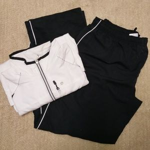 Jogging Suit - Black and White